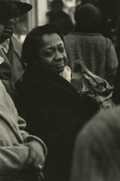 "One of Draper's photographs, the only documented photograph, from ""The Negro Woman"" exhibition."